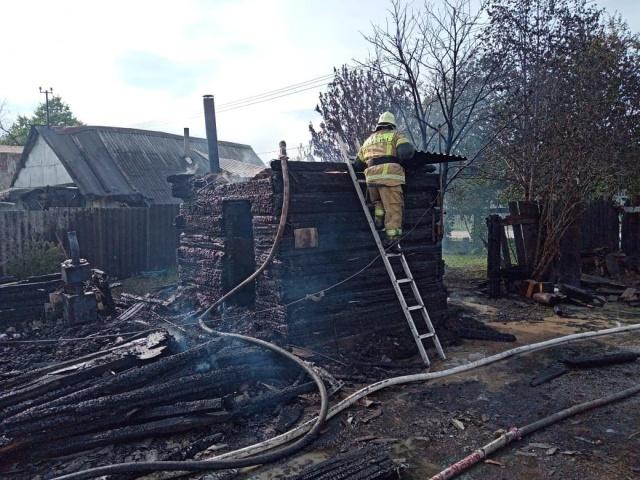 Пожар в деревне Крылосово